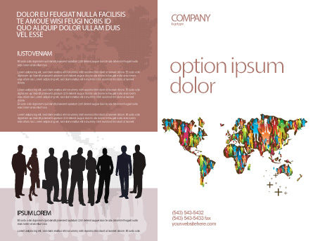 World Diversity Brochure Template, Outer Page, 03543, Global — PoweredTemplate.com
