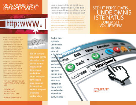 Browser Brochure Template, Outer Page, 03548, Technology, Science & Computers — PoweredTemplate.com
