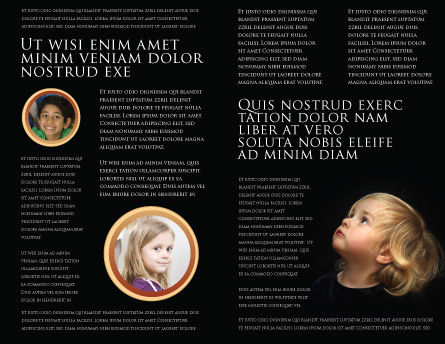 Child Listens Brochure Template, Inner Page, 03553, People — PoweredTemplate.com