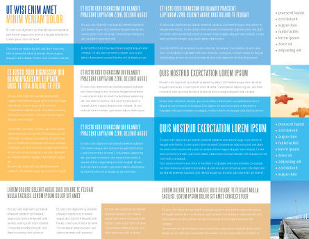 Pier Brochure Template, Inner Page, 03559, Education & Training — PoweredTemplate.com