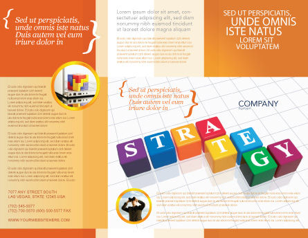 Strategy Brochure Template, Outer Page, 03563, Business Concepts — PoweredTemplate.com