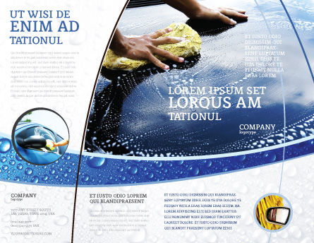 Car Wash Brochure Template Outer Page