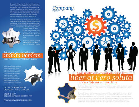 Business Workers Brochure Template Outer Page