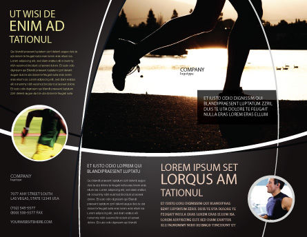 Jogging On The Bank Of The River Brochure Template, Outer Page, 03580, Sports — PoweredTemplate.com
