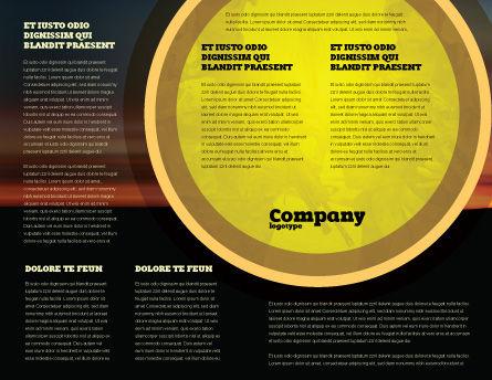 War Conflict Brochure Template Inner Page
