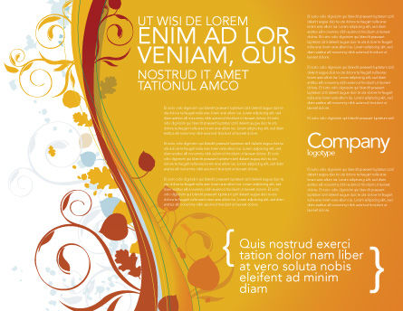 Autumn Theme Brochure Template Inner Page