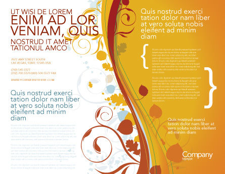 Autumn Theme Brochure Template Outer Page