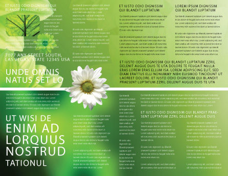 Green Flowers Brochure Template, Inner Page, 03594, Abstract/Textures — PoweredTemplate.com