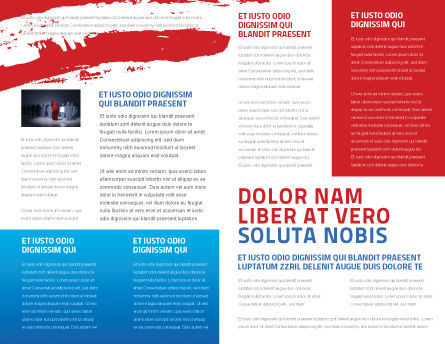 USA Elections Brochure Template, Inner Page, 03595, America — PoweredTemplate.com