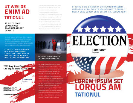 USA Elections Brochure Template, Outer Page, 03595, America — PoweredTemplate.com