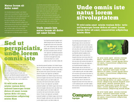 New Life Brochure Template, Inner Page, 03598, Nature & Environment — PoweredTemplate.com