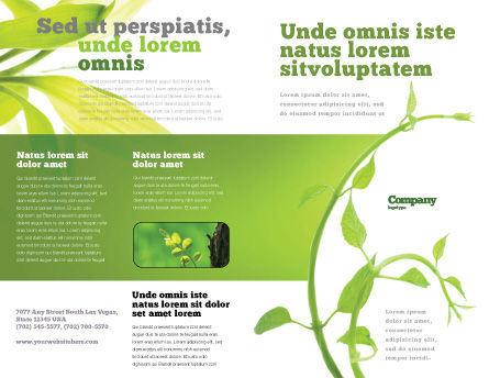 New Life Brochure Template, Outer Page, 03598, Nature & Environment — PoweredTemplate.com