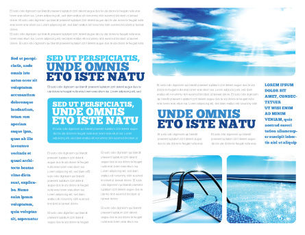 Swimming Pool Brochure Template, Inner Page, 03599, Careers/Industry — PoweredTemplate.com