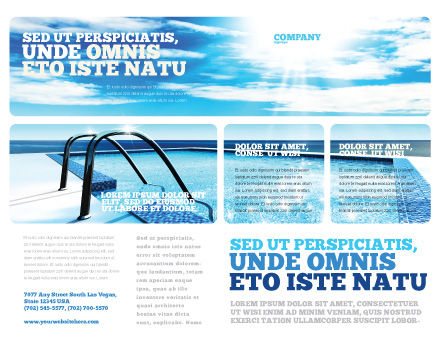 Swimming Pool Brochure Template, Outer Page, 03599, Careers/Industry — PoweredTemplate.com