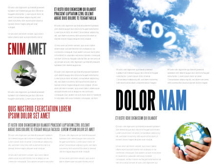 Carbonic Acid Brochure Template, Inner Page, 03601, Nature & Environment — PoweredTemplate.com