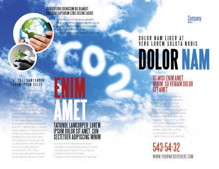 Carbonic Acid Brochure Template, Outer Page, 03601, Nature & Environment — PoweredTemplate.com