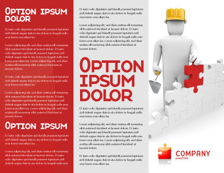 Building Up Brochure Template Inner Page