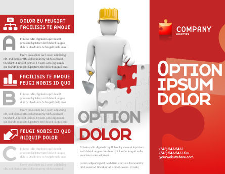 Building Up Brochure Template Outer Page