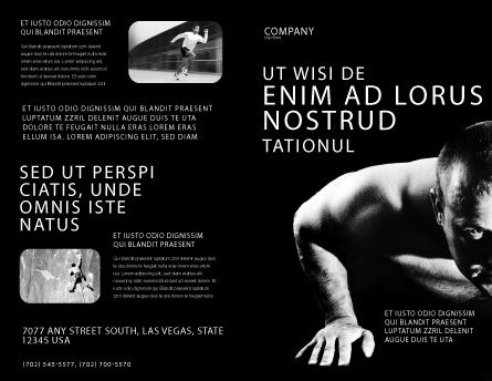 Men Sport Brochure Template Outer Page