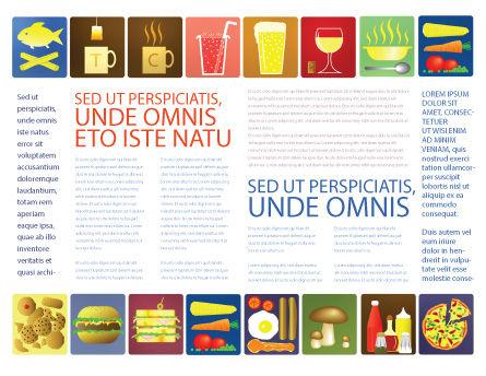 Fast Food Ingredients Brochure Template, Inner Page, 03614, Food & Beverage — PoweredTemplate.com