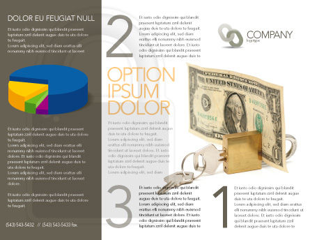 Money Savings Brochure Template Outer Page