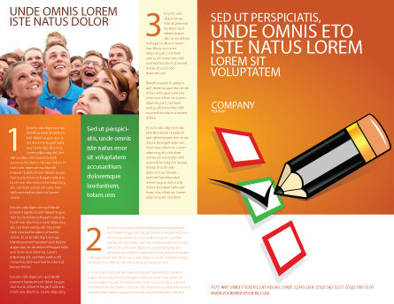 Questionnaire Brochure Template Outer Page