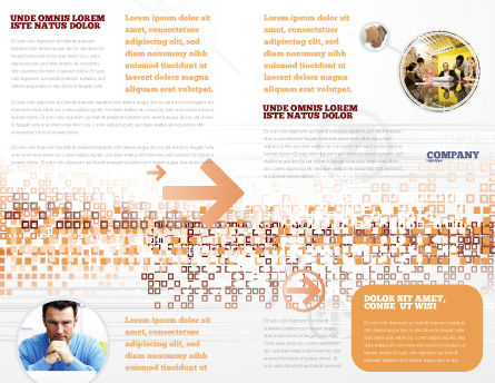 The Wall Brochure Template, Inner Page, 03630, Construction — PoweredTemplate.com