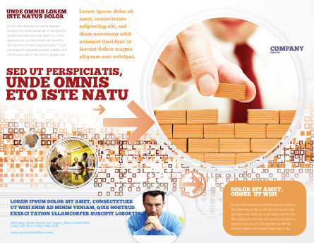 The Wall Brochure Template, Outer Page, 03630, Construction — PoweredTemplate.com