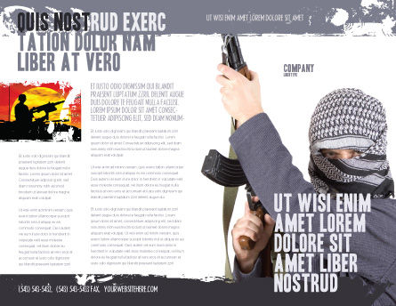 Terrorist Brochure Template, Outer Page, 03632, Military — PoweredTemplate.com