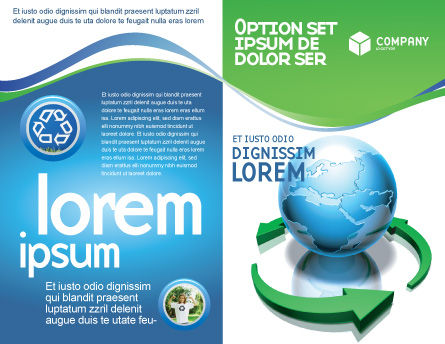 Restoring World Brochure Template, Outer Page, 03636, Global — PoweredTemplate.com