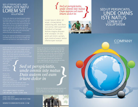 Five Continents Brochure Template, Outer Page, 03637, Global — PoweredTemplate.com