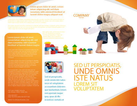 Child Games Brochure Template, Outer Page, 03642, Education & Training — PoweredTemplate.com