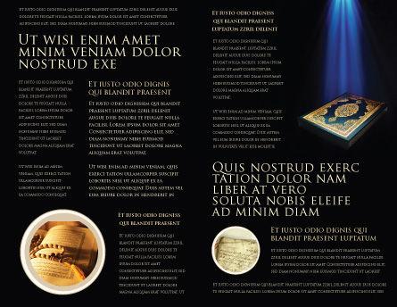 Koran Brochure Template Inner Page