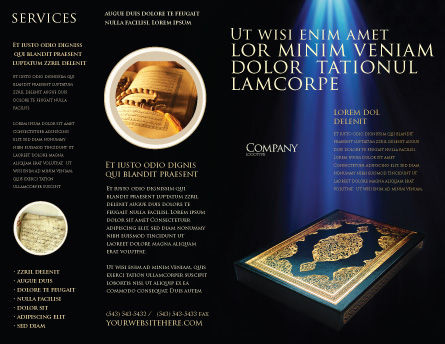 Koran Brochure Template Outer Page