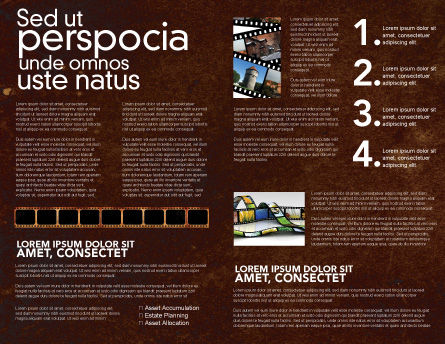 Movie Strip Brochure Template, Inner Page, 03652, Careers/Industry — PoweredTemplate.com