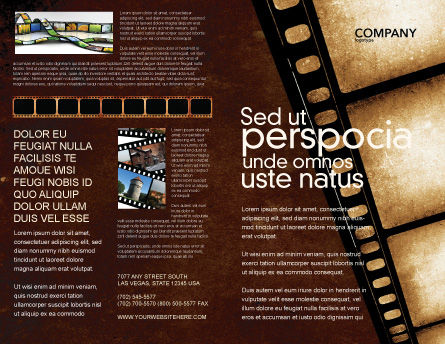 Movie Strip Brochure Template, Outer Page, 03652, Careers/Industry — PoweredTemplate.com