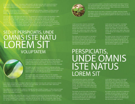 Plant Breeding Brochure Template, Inner Page, 03655, Agriculture and Animals — PoweredTemplate.com