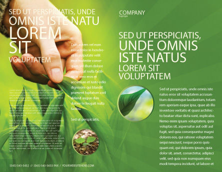 Plant Breeding Brochure Template, Outer Page, 03655, Agriculture and Animals — PoweredTemplate.com
