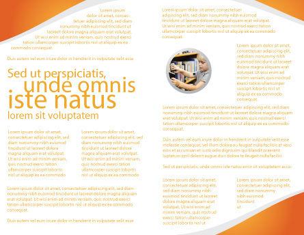 Computer Study Brochure Template, Inner Page, 03659, Education & Training — PoweredTemplate.com