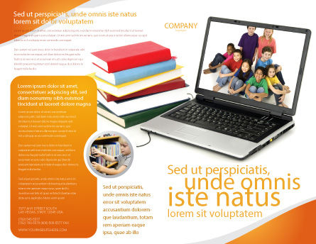 Computer Study Brochure Template, Outer Page, 03659, Education & Training — PoweredTemplate.com
