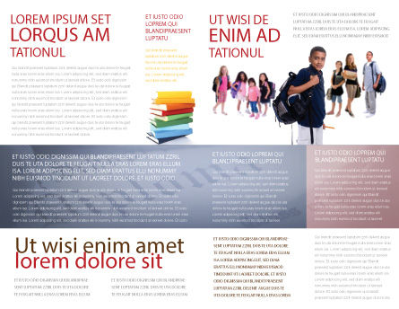 Secondary Schoolboy Brochure Template, Inner Page, 03662, People — PoweredTemplate.com