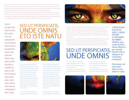 Face of Earth Brochure Template, Inner Page, 03663, Global — PoweredTemplate.com