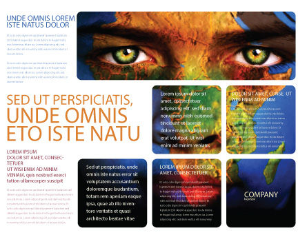 Face of Earth Brochure Template, Outer Page, 03663, Global — PoweredTemplate.com