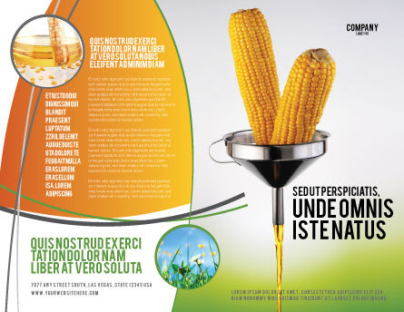 Corn Oil Brochure Template, Outer Page, 03664, Careers/Industry — PoweredTemplate.com