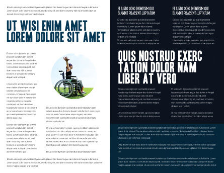 Wheelchair Brochure Template, Inner Page, 03665, Medical — PoweredTemplate.com