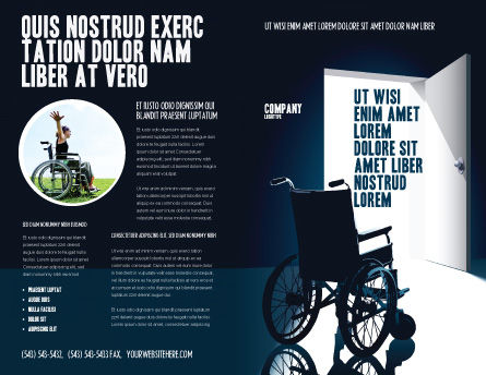 Wheelchair Brochure Template, Outer Page, 03665, Medical — PoweredTemplate.com