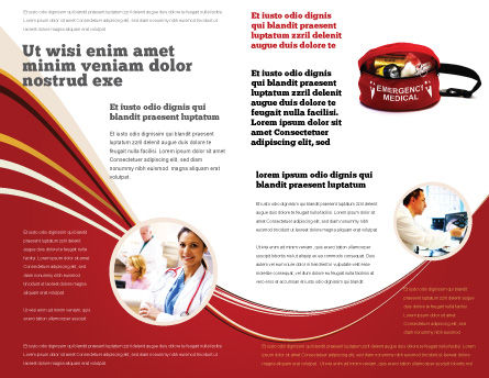 Medical Kit Brochure Template, Inner Page, 03674, Medical — PoweredTemplate.com