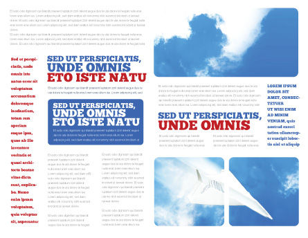 Paper Plane Brochure Template, Inner Page, 03676, Business Concepts — PoweredTemplate.com