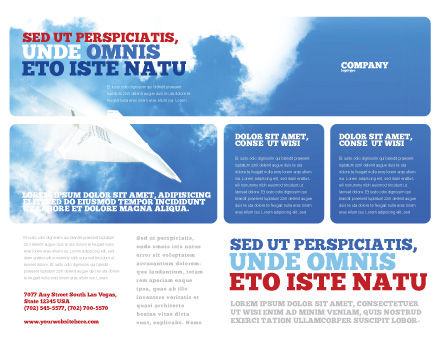 Paper Plane Brochure Template, Outer Page, 03676, Business Concepts — PoweredTemplate.com