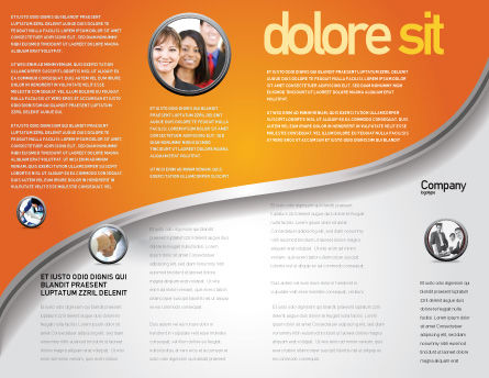 Global Partnership Brochure Template, Inner Page, 03682, Business Concepts — PoweredTemplate.com
